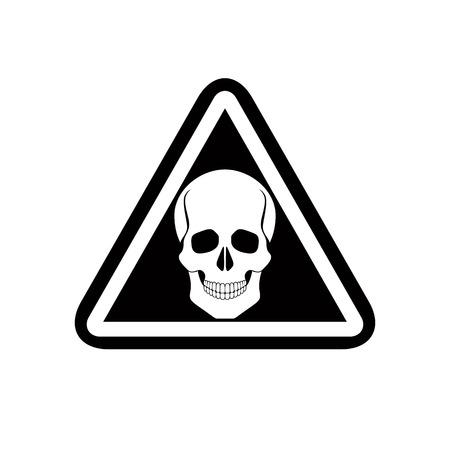 Skull warning sign, vector. Illustration