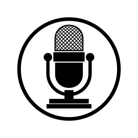 Microfoon pictogram, vector.