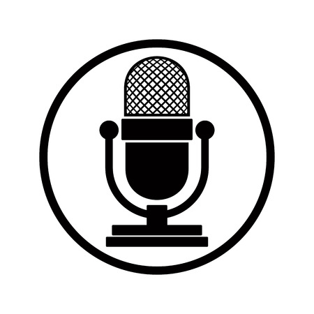picto: Microphone icon, vector.