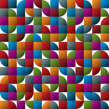 covering cells: Geometric colorful abstract seamless pattern, vector glossy mosaic background.