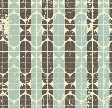 crannied: Colorful worn geometric seamless pattern, vector decorative background.