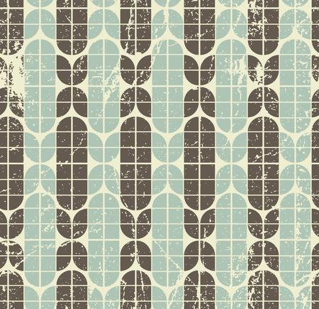 elliptic: Colorful worn geometric seamless pattern, vector decorative background.