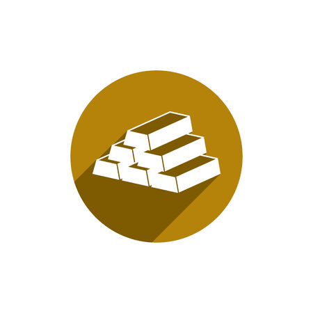 gold bars: Gold bars vector icon isolated.