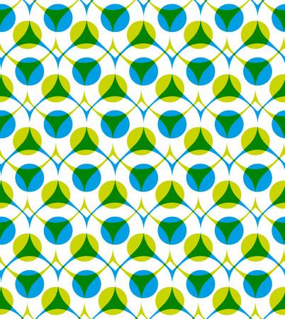 imposing: Colorful vector seamless con puntini verdi e blu, estate luminoso infinito sfondo imponente con gocce e cerchi, infinita copertina del libro astratto.
