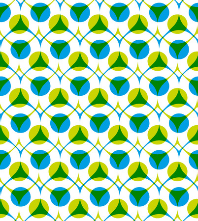imposing: Colorful vector seamless pattern with green and blue dots, summer bright infinite imposing background with drops and circles, endless abstract book cover.