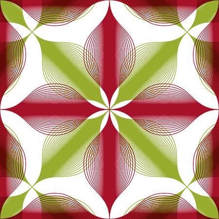 espejismo: Sin fisuras de fondo geom�trico vintage, floral patr�n transparente rayado, ilustraci�n vectorial.