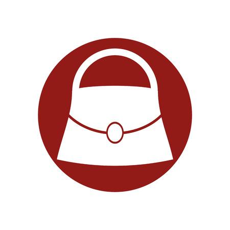 scrip: Woman bag vector icon.
