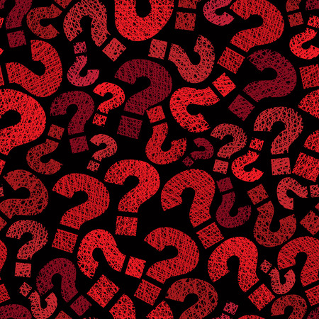 hesitation: Question marks seamless pattern, vector, hand drawn lines textures used.