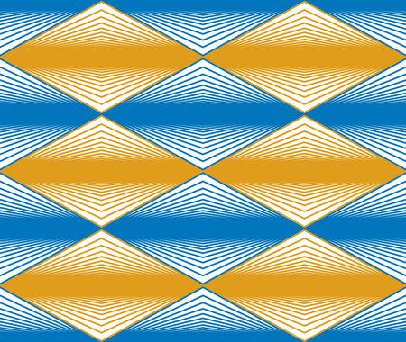 crannied: Seamless rhombus pattern, abstract geometric background, vector illustration. Illustration