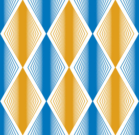 Seamless rhombus pattern, abstract geometric background, vector illustration. Vector