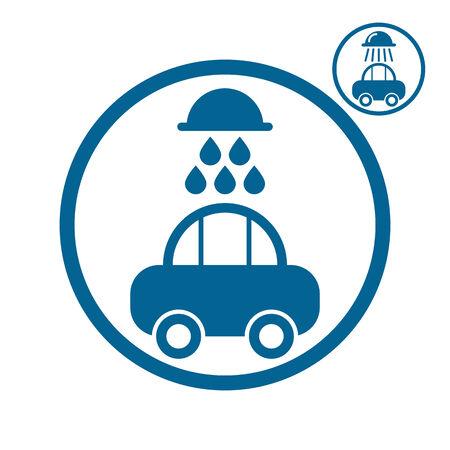 simplistic icon: Car wash vector simplistic icon. Illustration