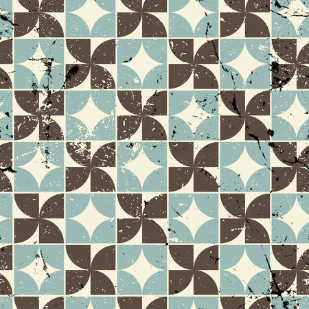 crannied: Vintage bright geometric seamless pattern, vector abstract spotted background.