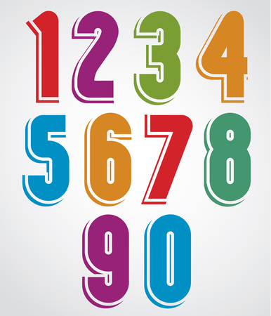 extensive: Extensive colorful animated rounded numbers with white outline.