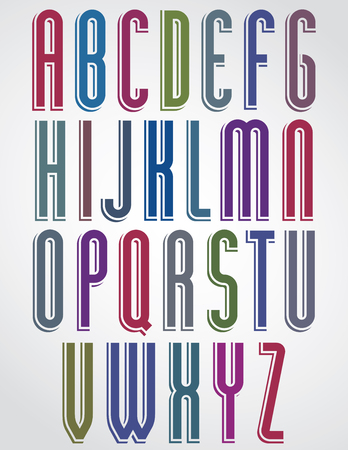 verb: Thin narrow bright animated font, uppercase letters with rounded corners.