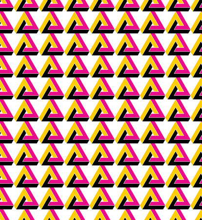 perpendicular: Triangle inspired texture background, continuous multicolored pattern with geometric figures, can be used for design and textile. Illustration