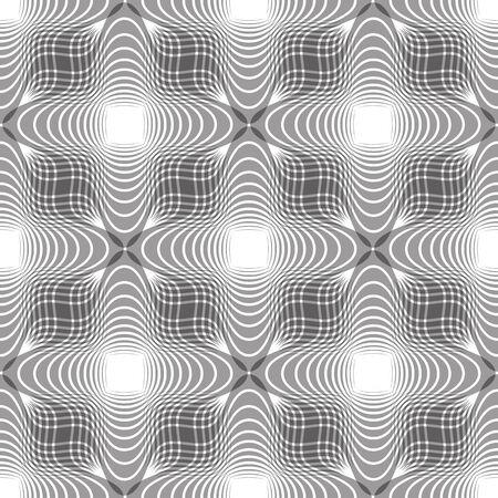 espejismo: De fondo sin fisuras la vendimia floral, geom�trico blanco y negro forrado sin patr�n, ilustraci�n vectorial blanco y negro. Vectores