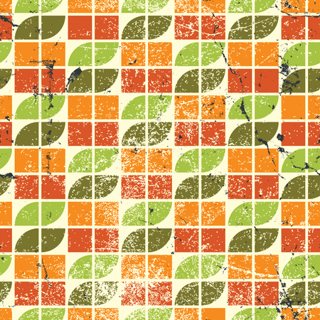 crannied: Ornamental worn textile geometric seamless pattern, decorative natural abstract background.