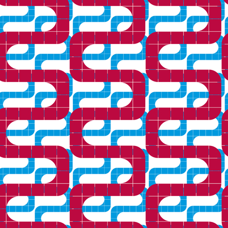 twine: Mosaic ornament seamless pattern, vector background.