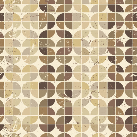 crannied: Vintage bright geometric seamless pattern, rounded abstract background.