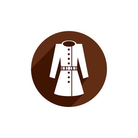 overcoat: Overcoat vector icon isolated.