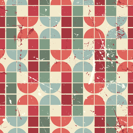 crannied: Vintage bright geometric seamless pattern, vector abstract background.