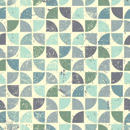 crannied: Vintage bright geometric seamless pattern, flower theme abstract background.  Illustration