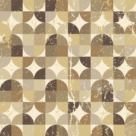 carpet and flooring: Vintage squared seamless pattern, vector rhombic abstract background.