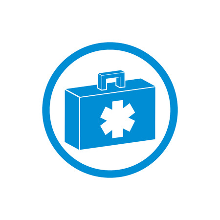 medical preparation: First aid kit vector icon isolated.