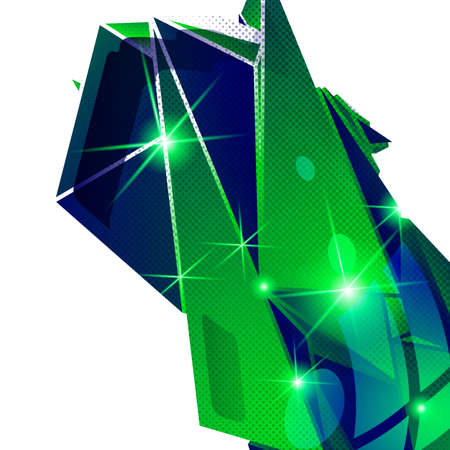 fond: Plastic grain fond, emerald dimensional geometric template, sparkling synthetic dotted background.