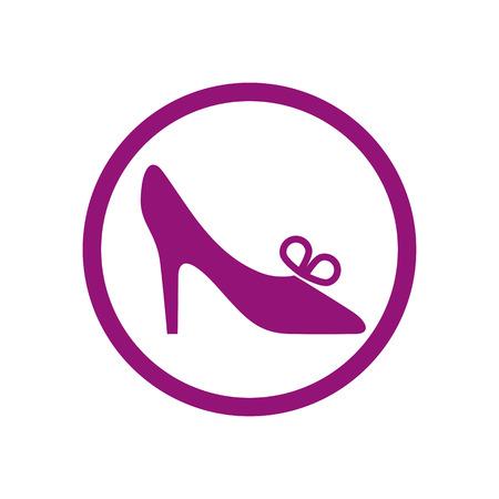 Footwear icon, vector shoe pictogram. Vector