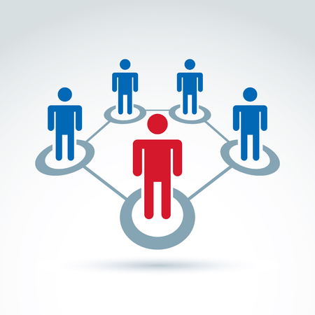 corporate social: Teamwork and business team and friendship icon, social group, organization, vector conceptual unusual symbol for your design. Illustration