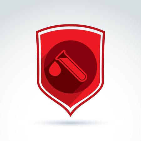 donor: Icono de la sangre de los donantes defensa, tubo de ensayo, virus, epidemia, vector s�mbolo de estilo conceptual para su dise�o.