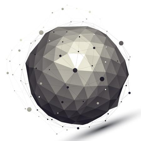tel kafes: Tel örgü, modern bilim ve teknoloji elemanı ile geometrik kontrast küresel rakam.
