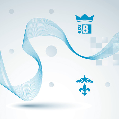 unwind: 3d vector decorative background with curved transparent dynamic ribbon. Wonderful aerial textile composition.