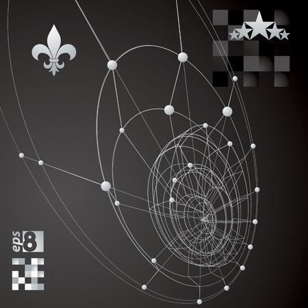 tel kafes: Tel örgü, modern bilim ve teknoloji arka plan ile Geometrik kontrast çokgen yapısı.