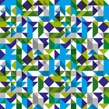 perpendicular: Bright seamless pattern with geometric figures, colorful mosaic textile, multicolored abstract vector book cover with squares and rectangles.