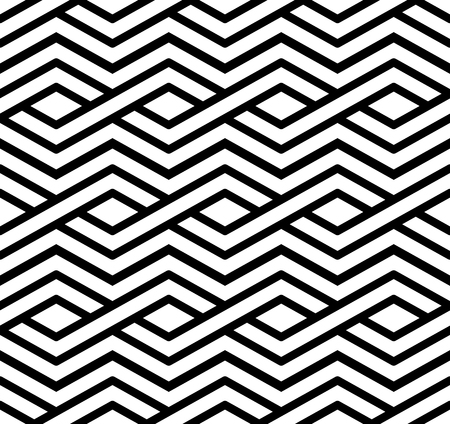 parallelogram: Contrast geometric seamless pattern with symmetric ornament. Rhombus graphic contemporary background. Splice black and white infinite backdrop.