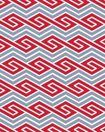 entwine: Vector disegno geometrico senza soluzione di continuit� con linee colorate, senza fine di vettore etnico sfondo ornamentale. Never-ending brillante composizione decorativa intrecciano.