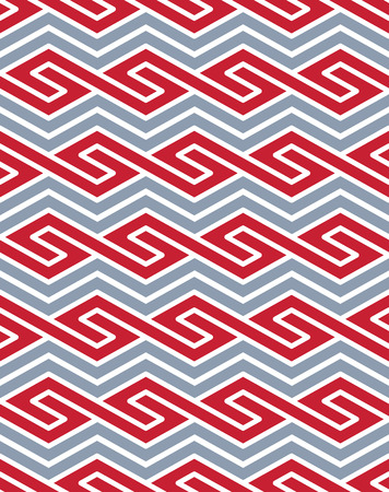 entwine: Vector geometric seamless pattern with colored lines, endless ethnic vector ornamental background. Never-ending bright entwine decorative composition.