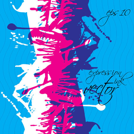 traced: Artistic colorful abstract dirty ink template,  messy vertical scanned and traced splashing decorative backdrop. Rough grungy repeat background.