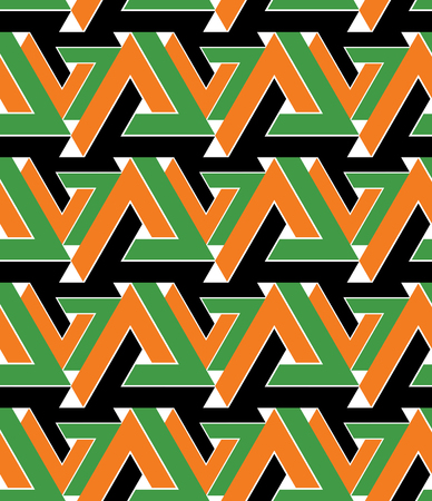 saturated: Regular extraordinary geometric seamless pattern with stylized triangles. Vivid continuous texture decoration, best for graphic and web design. Saturated background. Illustration
