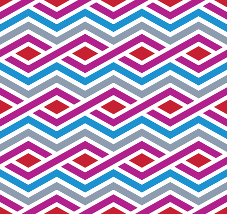 Contrast geometric seamless pattern with symmetric ornament. Rhombus graphic contemporary background. Splice bright continuous backdrop.