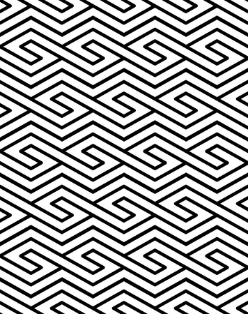 splice: Contrast geometric seamless pattern with symmetric ornament. Rhombus graphic contemporary background. Splice black and white infinite backdrop.