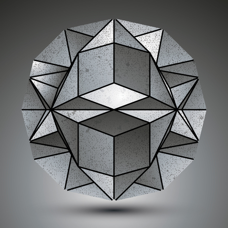 spherical: Complicated dimensional spherical element created from geometrical  figures.