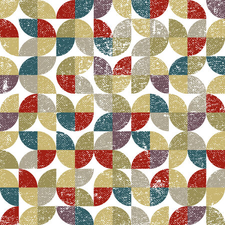 carpet and flooring: Vector geometric colorful textile abstract seamless pattern, jolly floral carpet tiles.