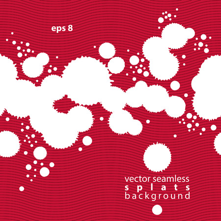 untidily: Colored modern vector inky wallpaper, blob seamless pattern painted with brush, muddled background with graffiti shapes, expressive red untidy illustration. Illustration