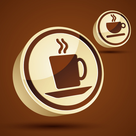 pictogramme: Coffee cup 3d vector icon set.