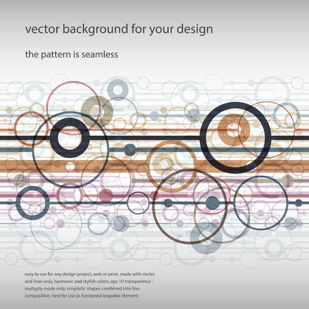 Vector background for your design, the pattern is seamless. Vector