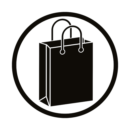carry bag: Shopping bag vector icon.