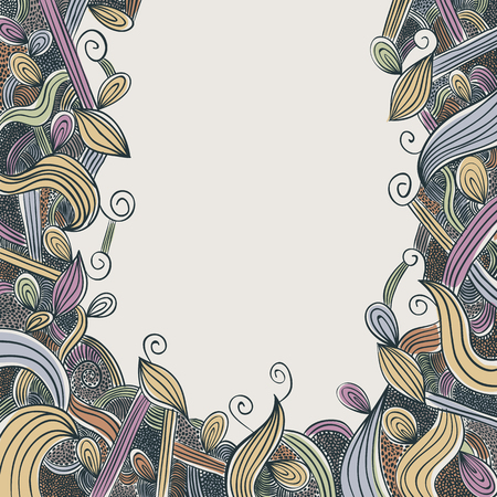 doddle: Hand drawn floral doddle background. Illustration